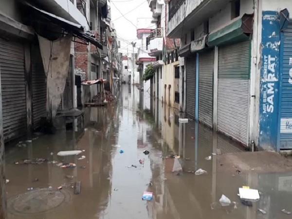 Low-lying areas are flooded in Prayagraj. Photo/ANI
