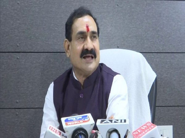 BJP leader Narottam Mishra speaking to reporters on Tuesday in Bhopal. Photo/ANI