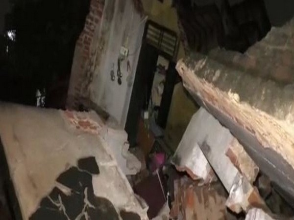 Residential building which collapsed in Tirupati (Photo/ANI)