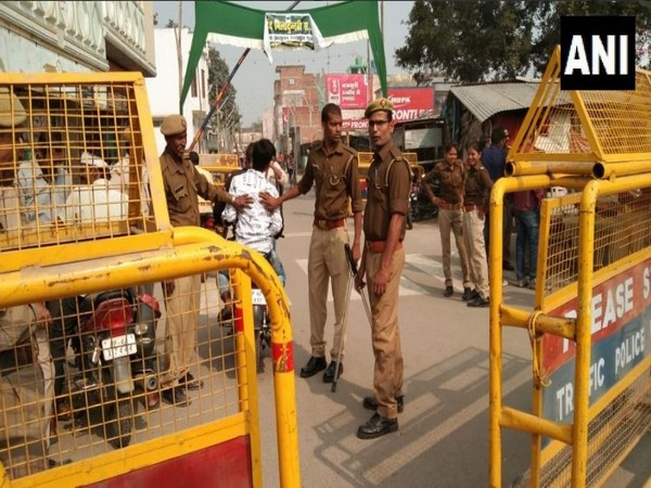 Security has been heightened in Ayodhya ahead of the Supreme Court verdict on the title dispute case. Photo/ANI