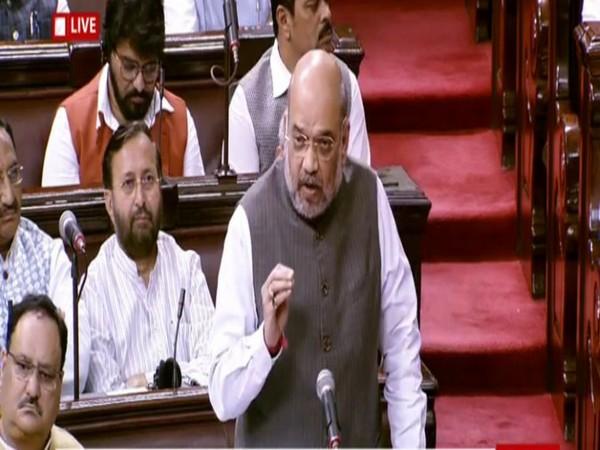 Union Home Minister Amit Shah in Rajya Sabha on Thursday