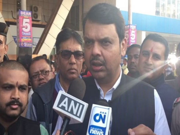 Former Maharashtra chief minister and BJP leader Devendra Fadnavis speaking to media persons on Tuesday (Photo/ANI)