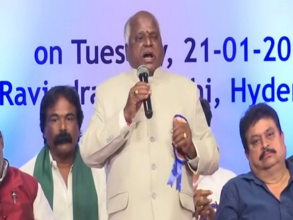 K Ramulu speaking at the national seminar in Hyderabad on Tuesday. Photo/ANI