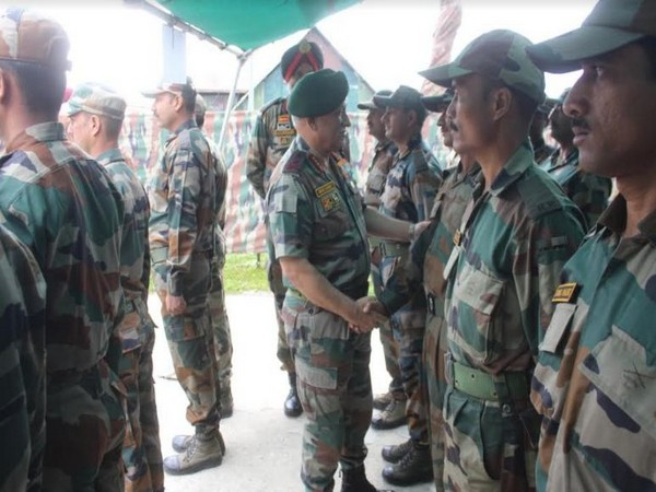 Army Chief General Bipin Rawat briefing the local commanders in Srinagar, Jammu and Kashmir on Friday.
