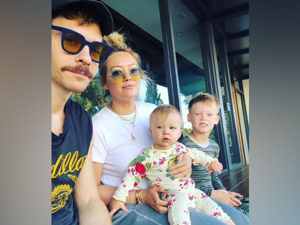 Hilary Duff with her children and fiancé