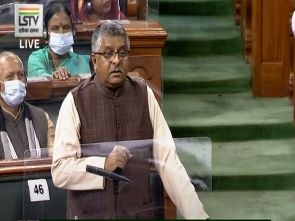 Union Law Minister Ravi Shankar Prasad in Lok Sabha