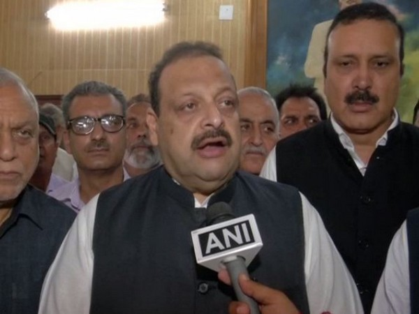 National Conference (NC) Devender Rana speaking to ANI in Jammu on Thursday. Photo/ANI