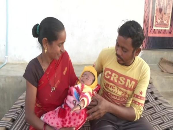 Ashok, a surrendered Naxal with his family (Photo/ANI)