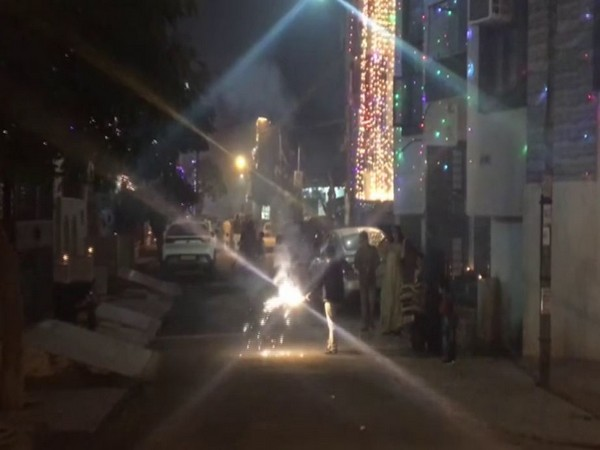 Visual from Ghaziabad in Saturday night. (Photo/ANI)