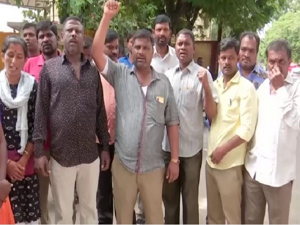 RTC workers continue to strike on Tuesday (Photo/ANI)