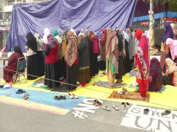 A visual from Shaheen Bagh protest in Delhi on Friday. Photo/ANI