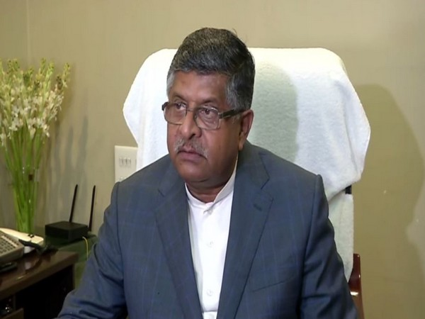 Union Minister Ravi Shankar Prasad while speaking to ANI on Wednesday (Photo/ANI)
