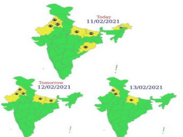 Visuals shared by India Meteorological Department
