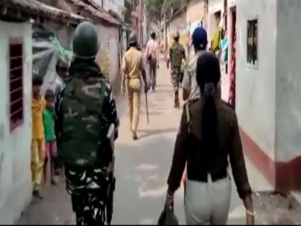 Central forces conducts route march in Barrackpore constituency