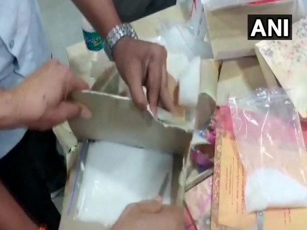 Ephedrine drugs hidden inside invitation cards (Photo/ANI)