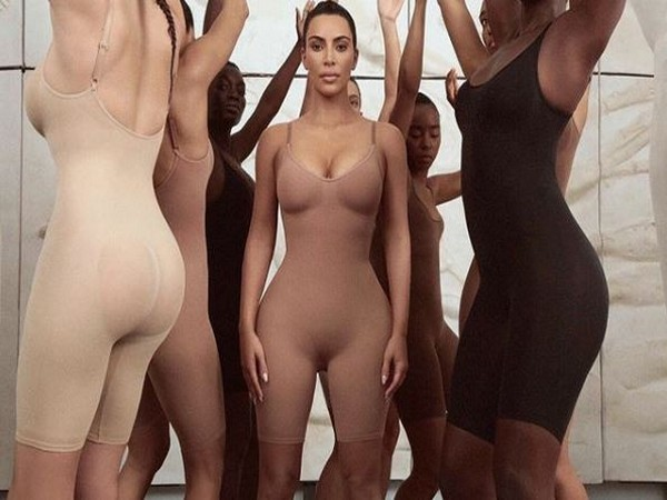 Kim Kardashian in 'SKIMS' shapewear (Image Courtesy: Instagram)
