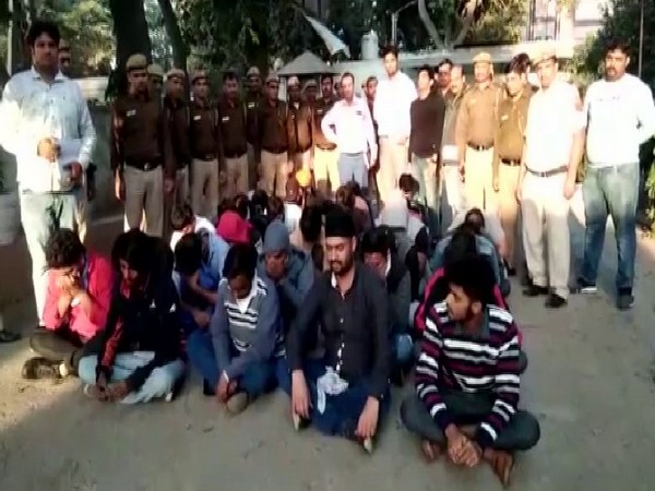 32 persons were arrested in an international cheating case in New Delhi on Saturday. Photo/ANI