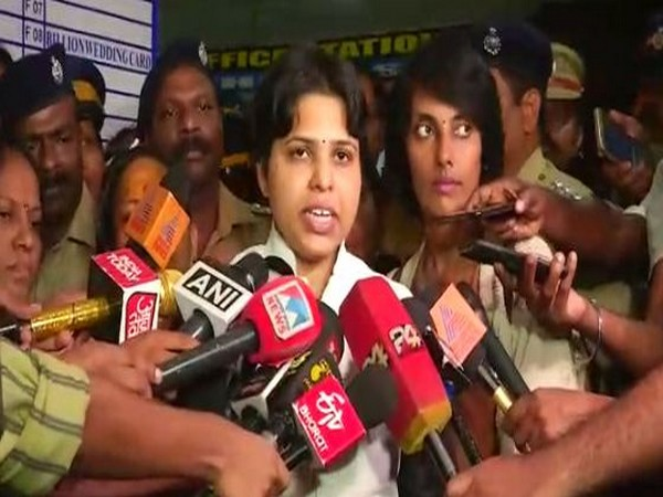 Women rights activist Trupti Desai while speaking to the reporters in Ernakulam on Tuesday (Photo/ANI)