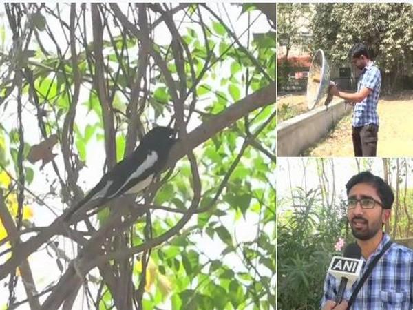 Naturalist Viral Joshi captures bird sounds using self-fashioned equipment. Photo/ANI