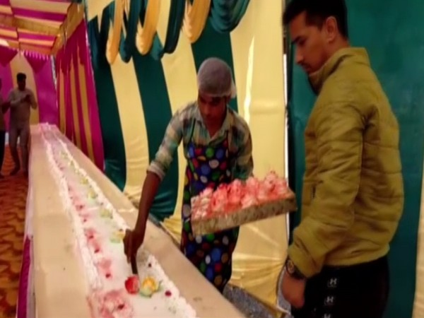 550-feet-long cake prepared by a team of 15 people in Patiala, Punjab (Photo/ANI)