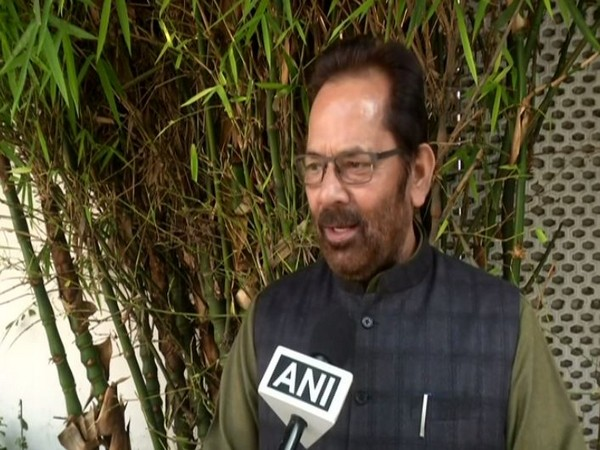 Union Minister Mukhtar Abbas Naqvi while speaking to ANI on Wednesday (Photo/ANI)