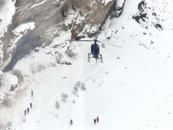 Stranded tourists evacuated from by the helicopters to the Army medical facility in Leh