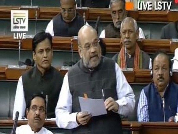 Union Home Minister Amit Shah while speaking in Lok Sabha on Wednesday (Photo/ANI)