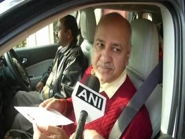 Delhi Deputy Chief Minister Manish Sisodia speaking to ANI on Friday (Photo/ANI)