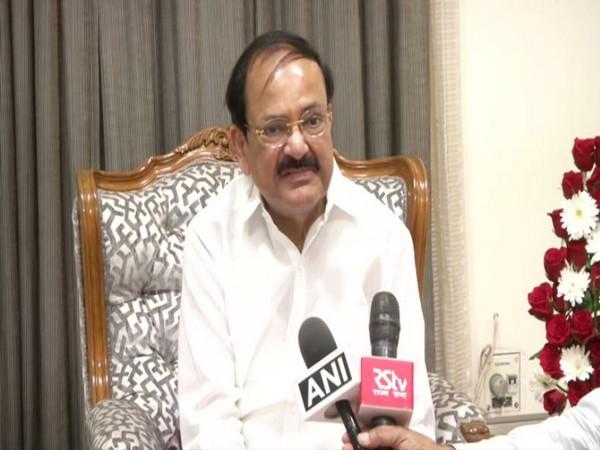 Vice President M Venkaiah Naidu speaks to media in Chennai on Saturday. [Photo/ANI]