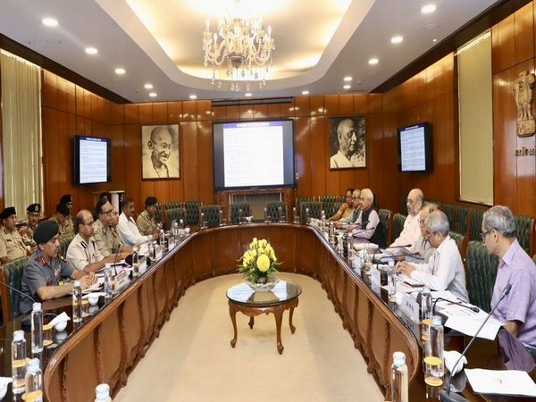 Union Home Minister Amit Shah chaired a high-level meeting to review the current status of border security and measures to be taken to strengthen it further. (Photo/ANI)