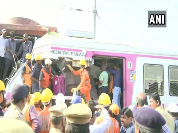 Operations carried out to rescue to driver of Lingampalli-Falaknuma train (Photo/ANI)