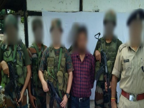 In a joint operation, Indian Army troops and police on Friday apprehended one ULFA cadre from Dibrugarh, Assam. (Photo/Twitter)