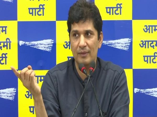 AAP chief spokesperson Saurabh Bhardwaj addressing a press conference (Photo/ANI)
