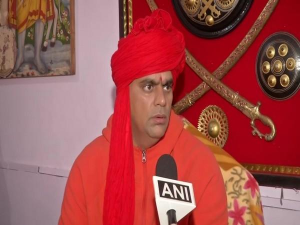 Akhil Bhartiya Hindu Mahasabha president Swami Chakrapani while speaking to ANI on Friday. Photo/ANI