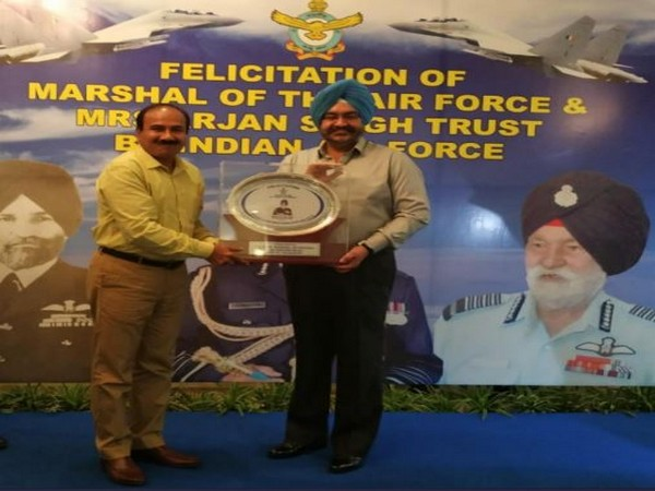 Air Chief Marshal BS Dhanoa at the event in New Delhi on Sunday. Photo/ANI