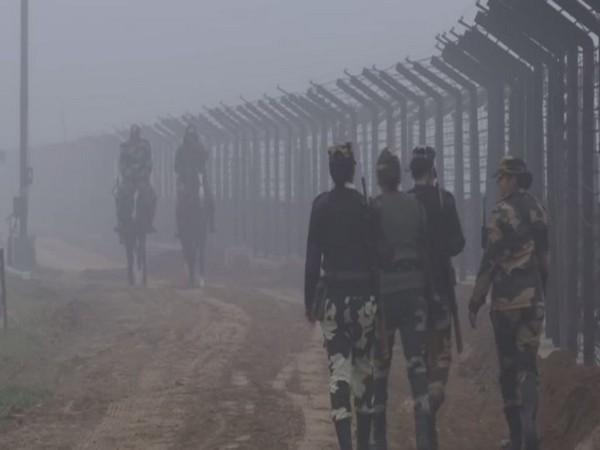 Border Security Force (BSF) jawans guarding the Attari-Wagah border area (Photo/ANI)