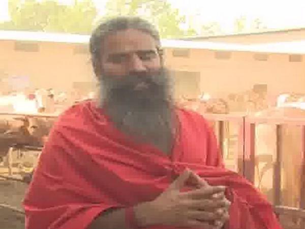Baba Ramdev speaking to media persons in Haridwar on Monday. Photo/ANI