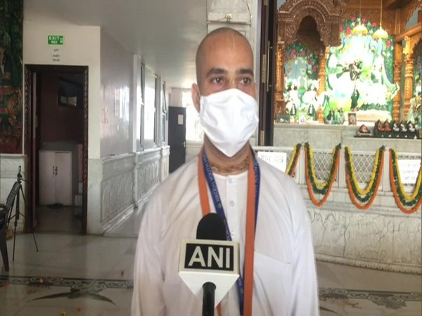 Brajjan Ranjan Das, a temple official in conversation with ANI. (Photo/ANI)