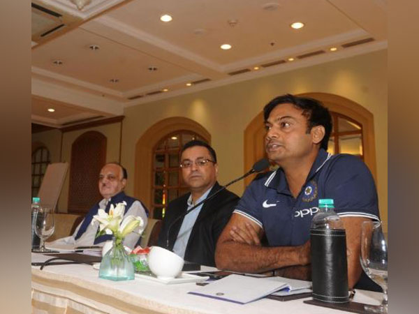 India Chairman of Selectors MSK Prasad, BCCI CEO Rahul Johri and BCCI's Acting President CK Khanna (from right to left) during the Captains and Coaches Conclave 2019 here on Friday (Photo/ BCCI)