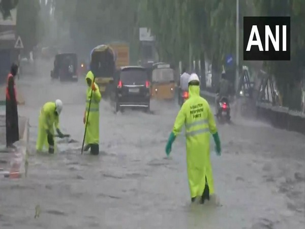 Visuals from Hyderabad showed Disaster Response Force workers from the wading through calf-length waters on the city's roads.