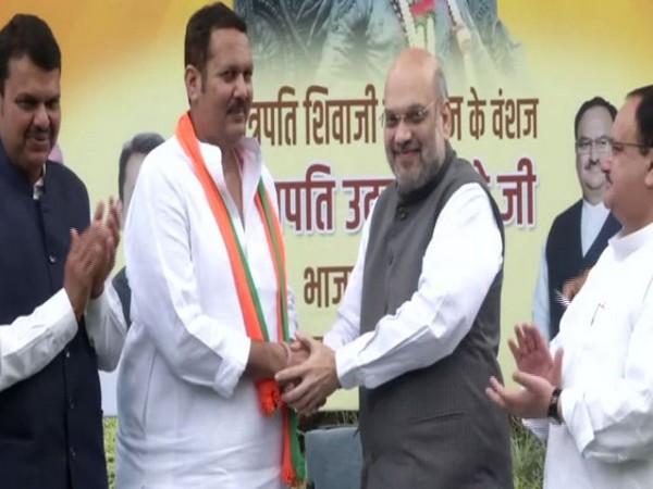 Udayanraje Bhosale joins Bharatiya Janata Party (BJP) (Photo/ANI)