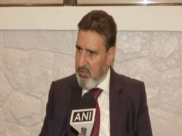 Jammu and Kashmir Apni Party president Altaf Bukhari speaking to ANI in New Delhi on Saturday. Photo/ANI