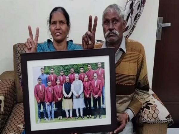 Rani Rampal's parents (Photo/ANI)
