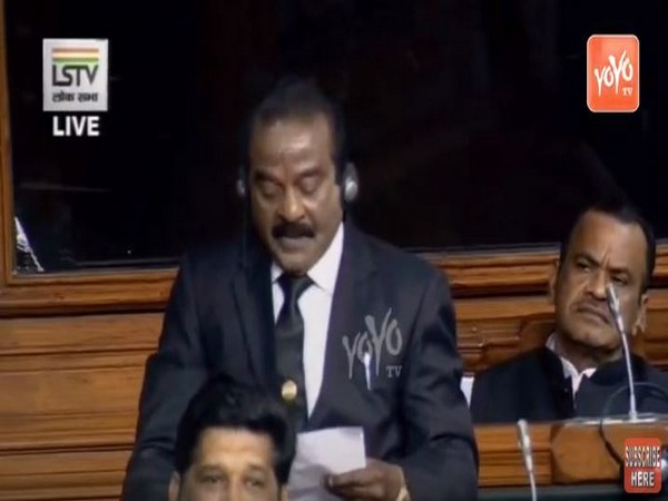H Vasanthakumar, Indian National Congress (INC) MP from Kanyakumari while speaking in the Lok Sabha on Tuesday (Photo/ANI)