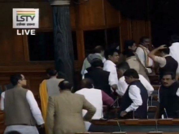 Congress MPs staged walkout from Lok Sabha on Thursday (Photo/ANI)