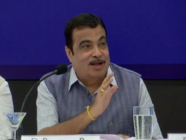 Nitin Gadkari addressing a press conference in Mumbai on Monday. Photo/ANI