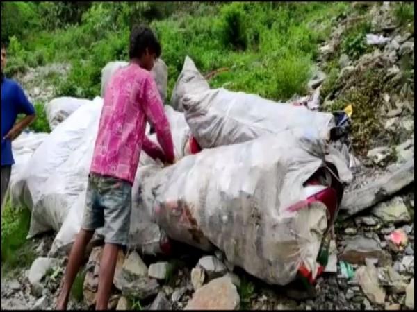 Chamoli municipality will take initiave to convert plastic waste into tiles. [Photo/ANI]