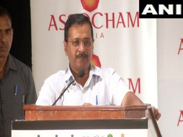 Chief Minister Arvind Kejriwal speaking at an event in Delhi (Photo/ANI)