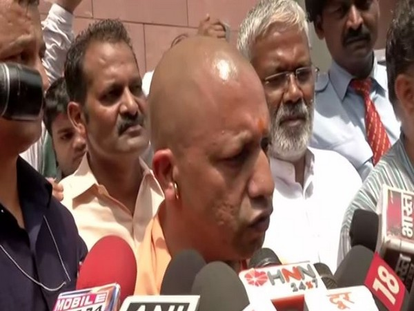 Chief Minister Yogi Adityanath while addressing the reporters on Wednesday. (Photo/ANI)