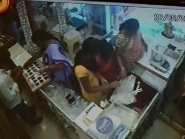 Still of the CCTV video installed in the shop